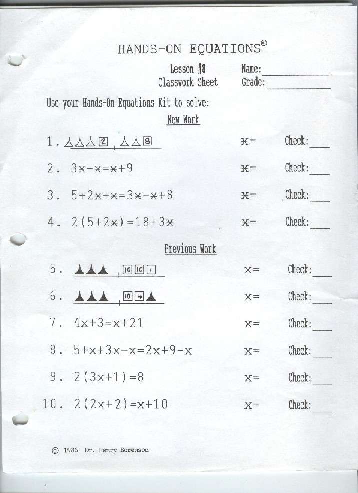 online math assignments