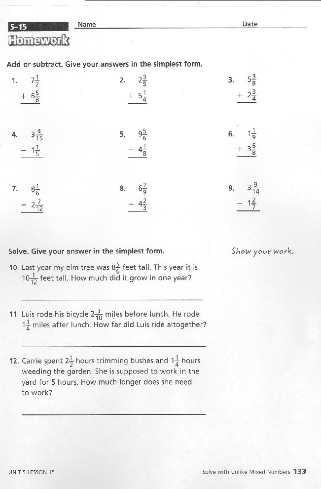 Grade 5 - Practice with Math Games